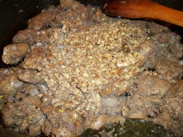 Adding Walnuts and Crushed Garlic - Copy