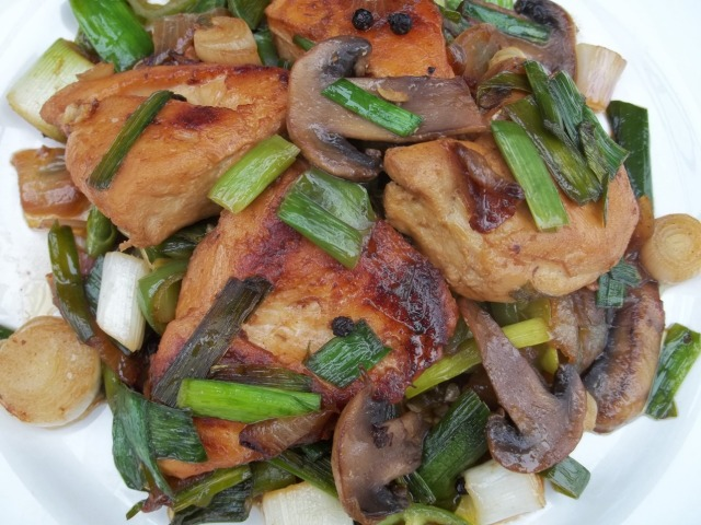 Chicken with Green Garlic - Copy
