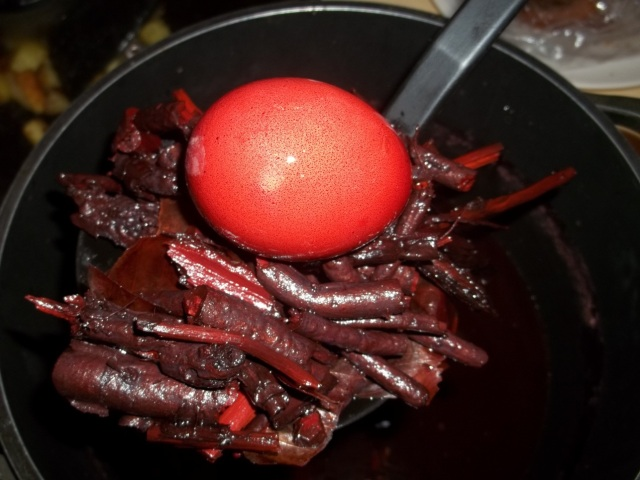 Dyed Egg with Madder Root - Copy