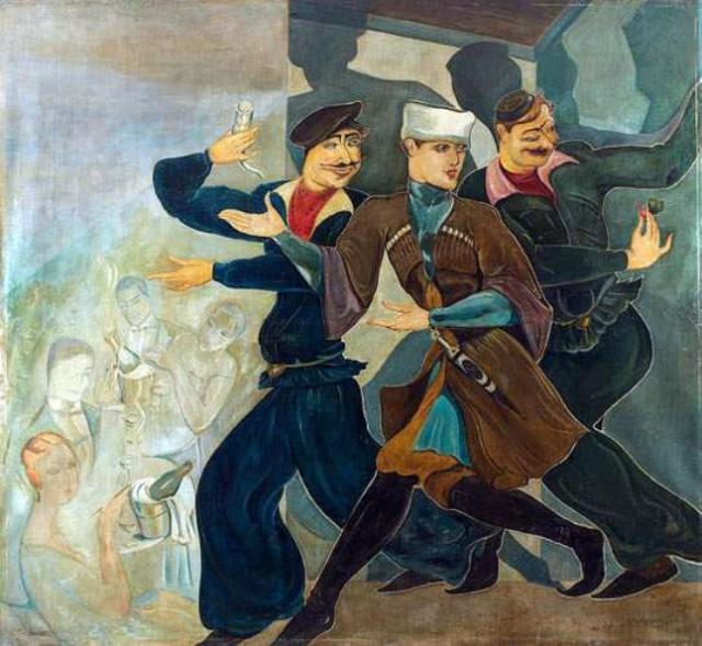 A Tbilisi scene by Lado Gudiashvili. Early 1920s.