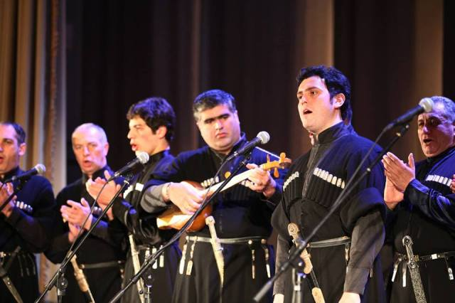Members of the Rustavi Choir of the Ensemble Rustavi