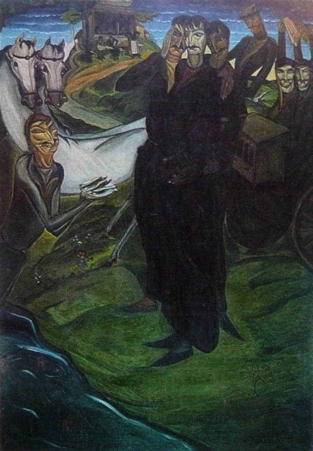 Fish Cockhali by Lado Gudiashvili,1920