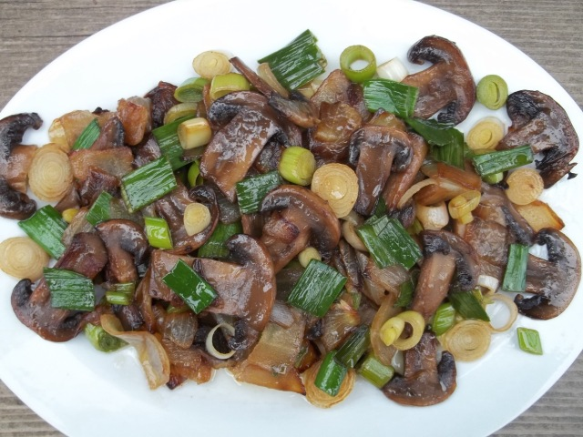 Green Garlic with Mushrooms - Copy