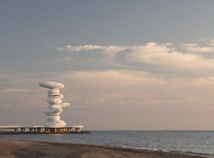 Lazika Pier Sculpture. Photo by Marcus Buck.