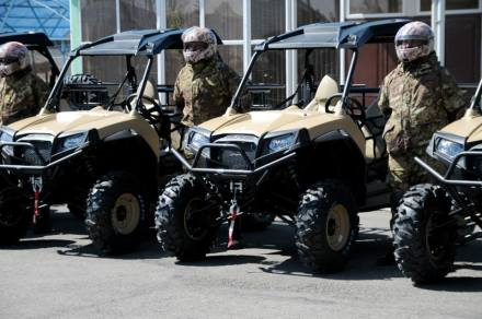 Polaris all-terrain vehicles of  Georgia's Border Police