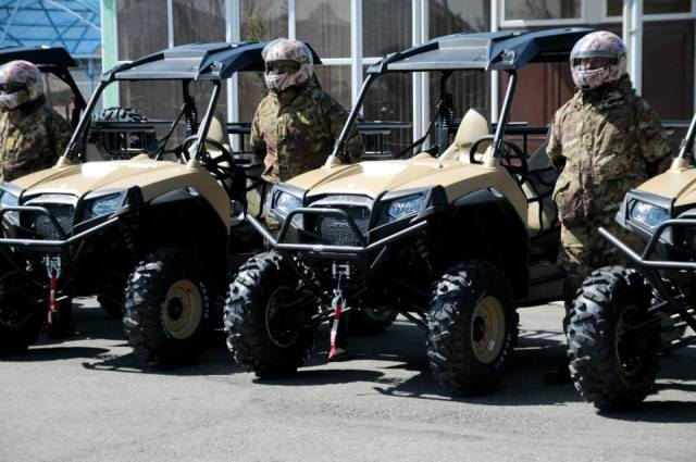 Polaris all-terrain vehicles of  Georgia's Border Police