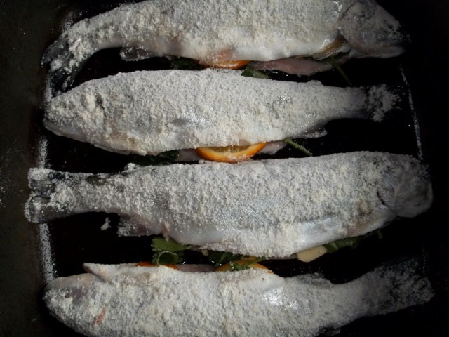 Prepared Fish in a pan - Copy