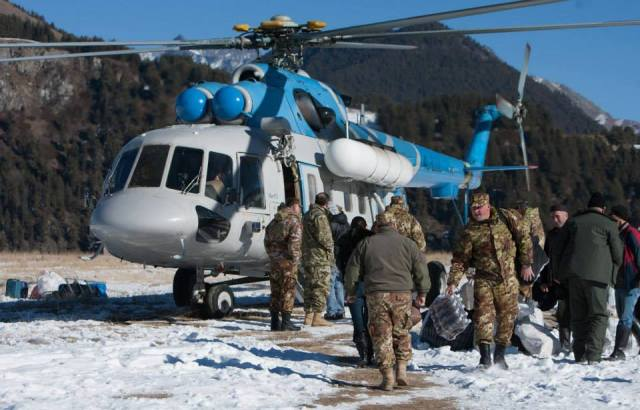 Re-supplying a Border Police Post in the Caucasus Mountains