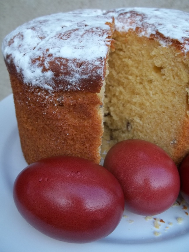 Red Eggs and Paska Cake - Copy