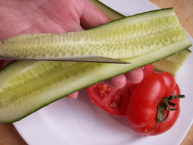 Removing Centre of Cucumber - Copy