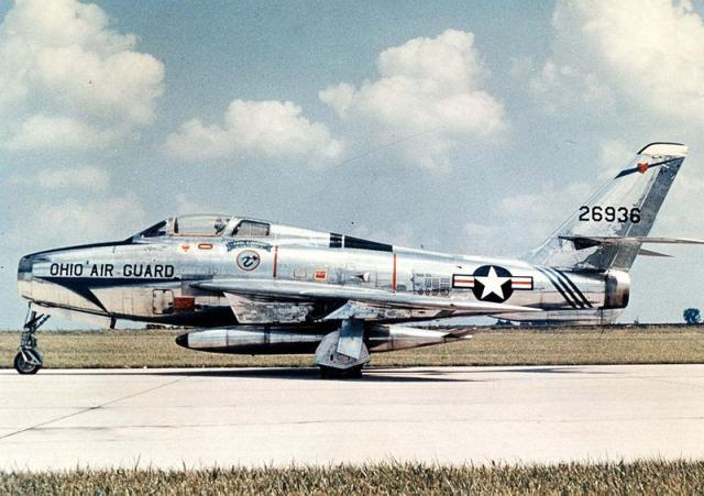 Republic F-84F-55-RE Thunderstreak designed by Alexander Kartveli.