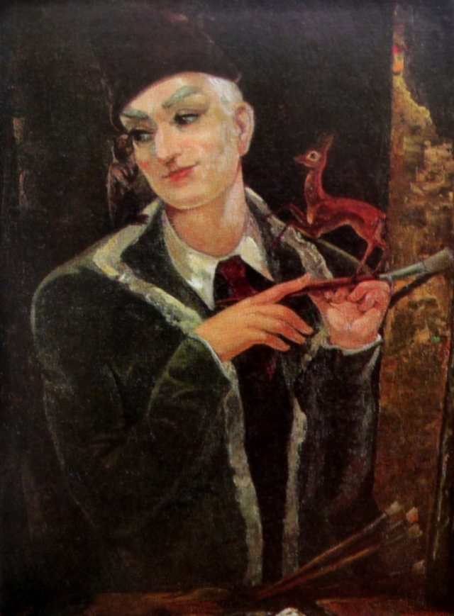 Self-portrait of Lado Gudiashvili, 1950