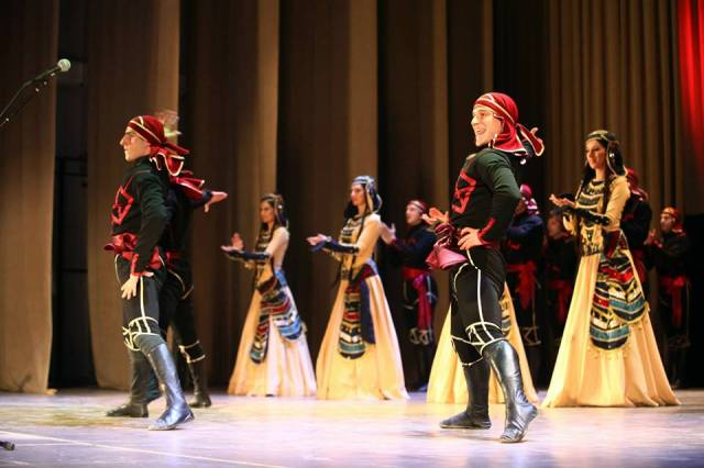The Rustavi Ensemble performing the Acharuli (აჭარული) dance that originates from Ajara region in the south-west of Georgia