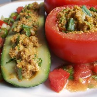 About Food - Stuffed Tomatoes and Cucumbers