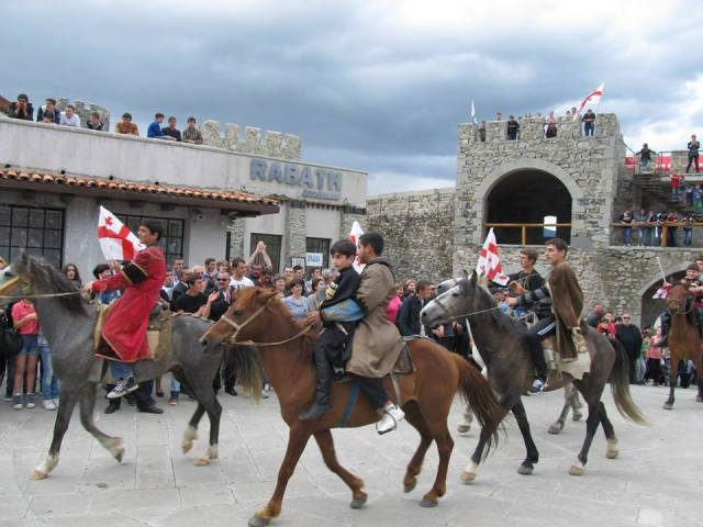 A display of horsemanship at Rabati Castle. Photo courtesy of the Georgian Government