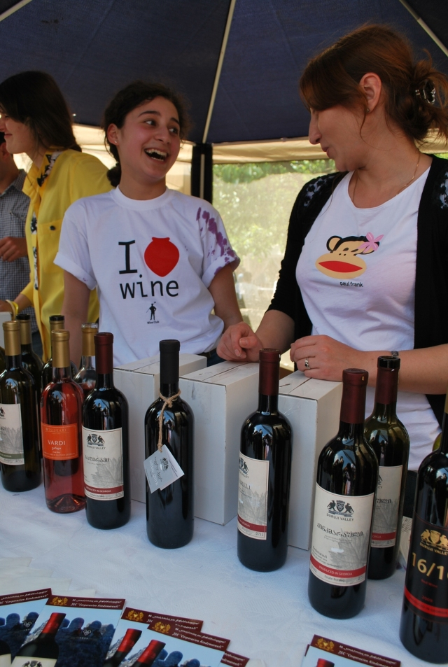 A wine exhibitor at the New Wine Festival in Tbilisi