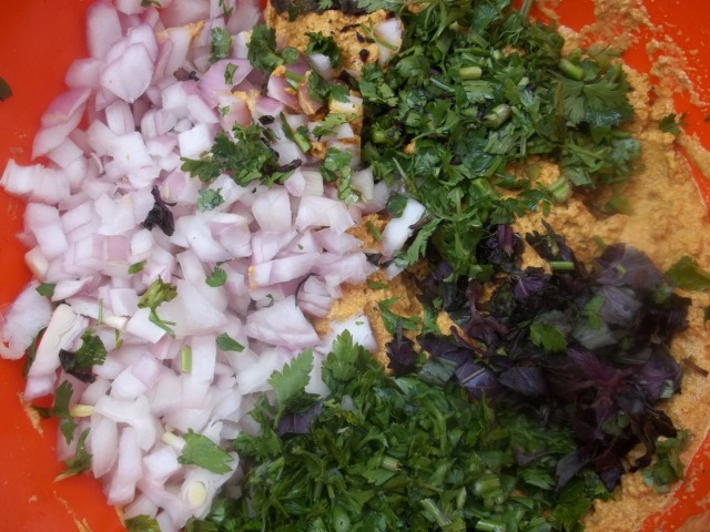 Adding Chopped Onions and Herbs - Copy