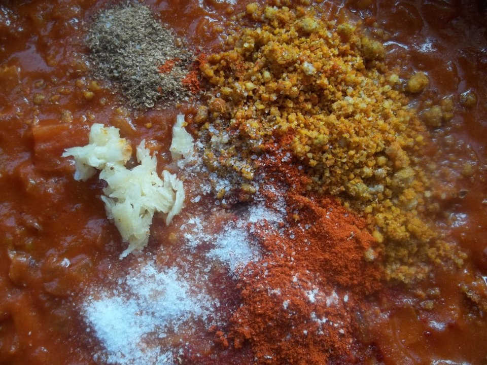 Adding Spices, nuts and garlic - Copy