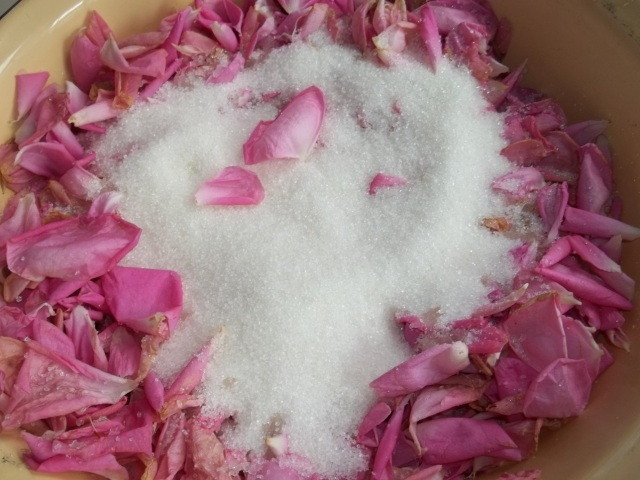 Adding Sugar to Rose Petals - Copy
