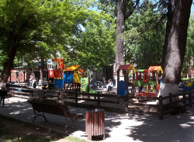 Children's play area in Djansug Kakhidze Park