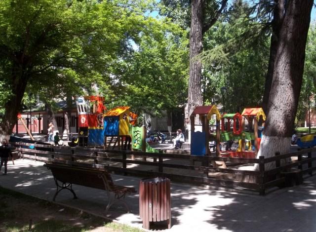 Children's play area in Djansug Kakhidze Park