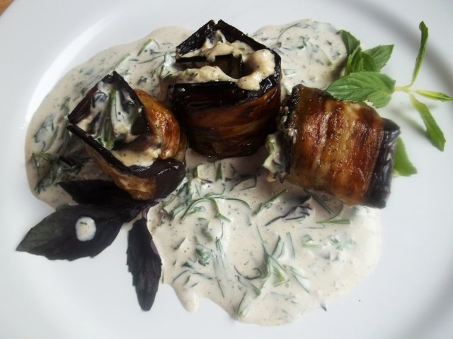 Eggplant with Mayonnaise and Mint - Copy