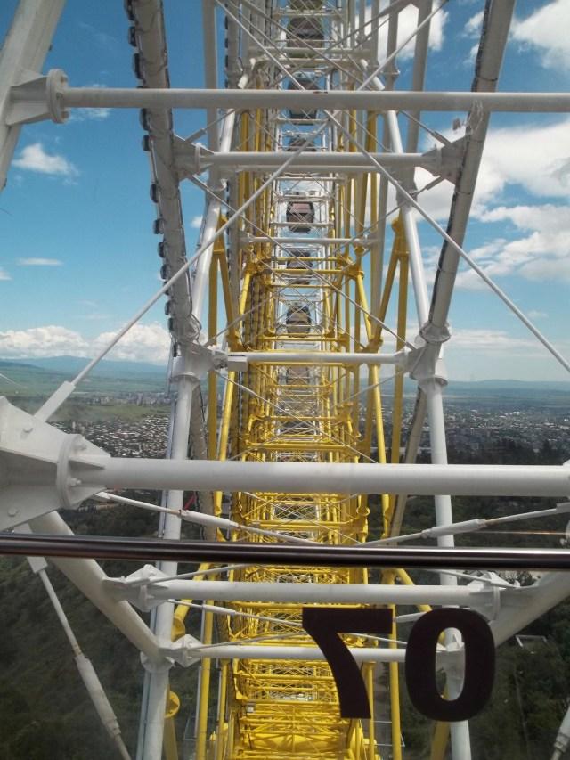 Spectacular views of Tbilisi fromthe Ferris Wheel at Mtatsminda Park