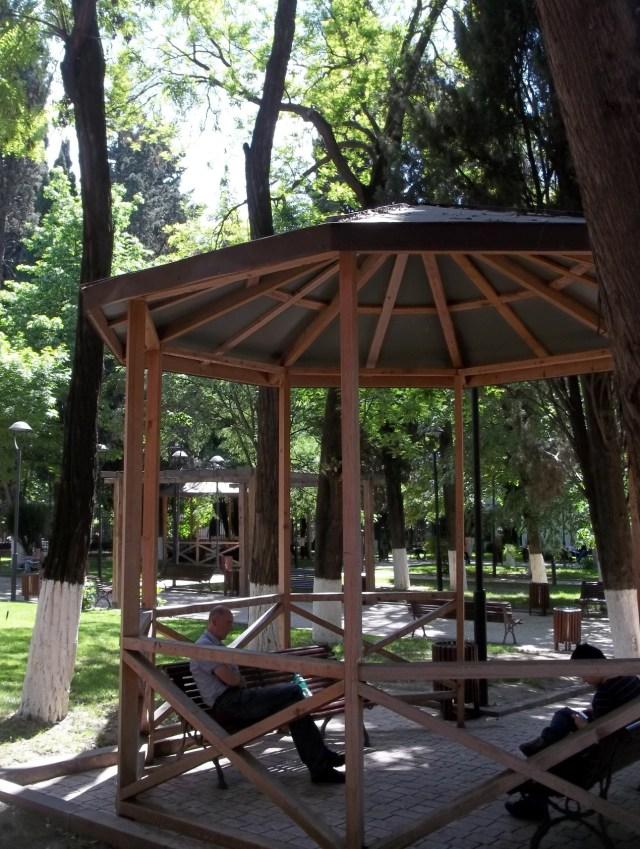 Gazebo in Djansug Kakhidze Park in Tbilisi