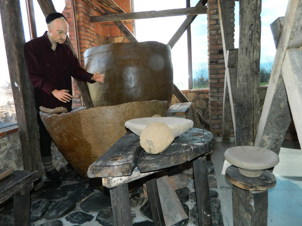 Making Qvevri exhibit at the Qvevri and Qvevri Wine Museum
