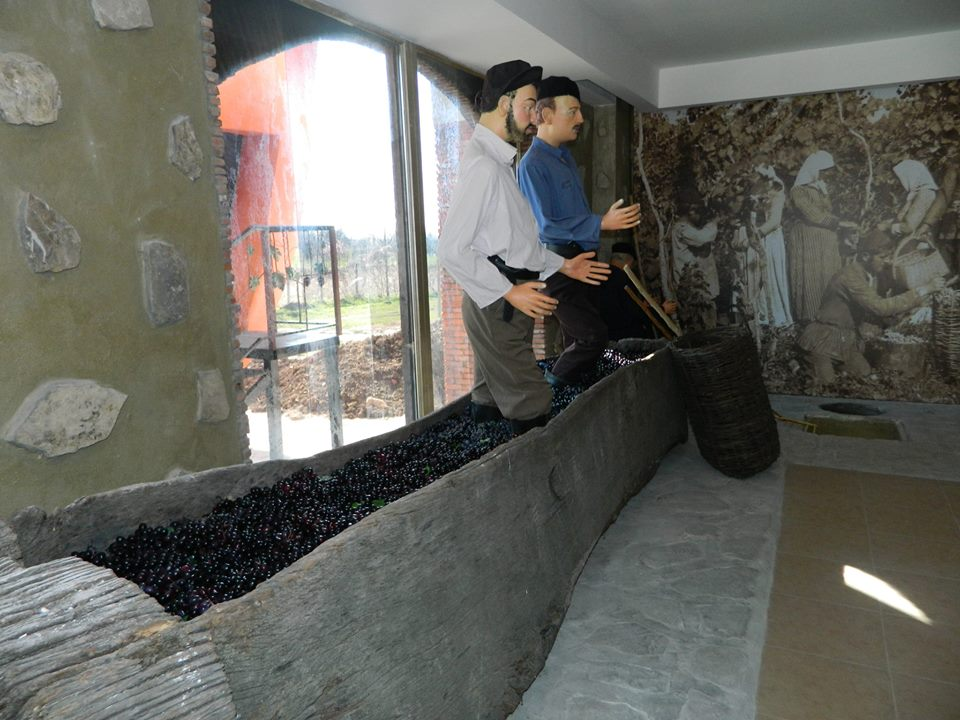 Grape pressing exhibit at the Qvevri and Qvevri Wine Museum
