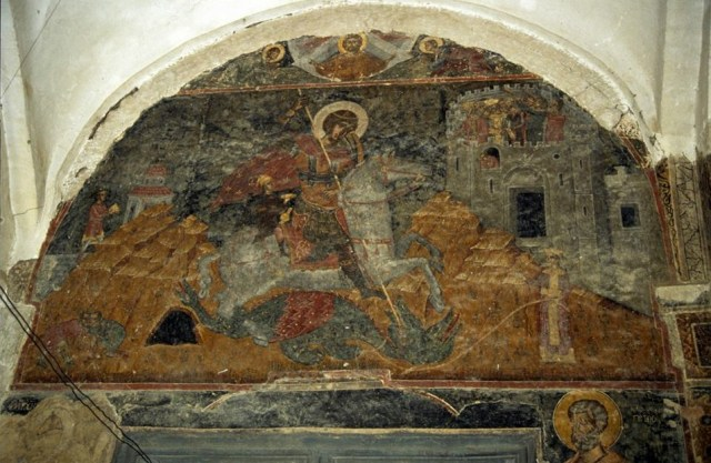 St Georgia mural in Alaverdi Cathedral