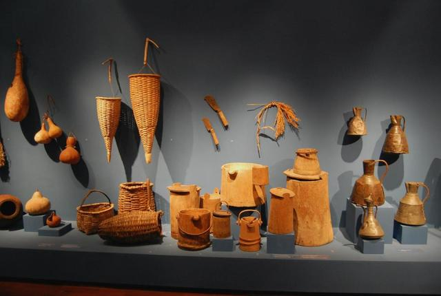 Display of household items at the Martvili Regional Museum