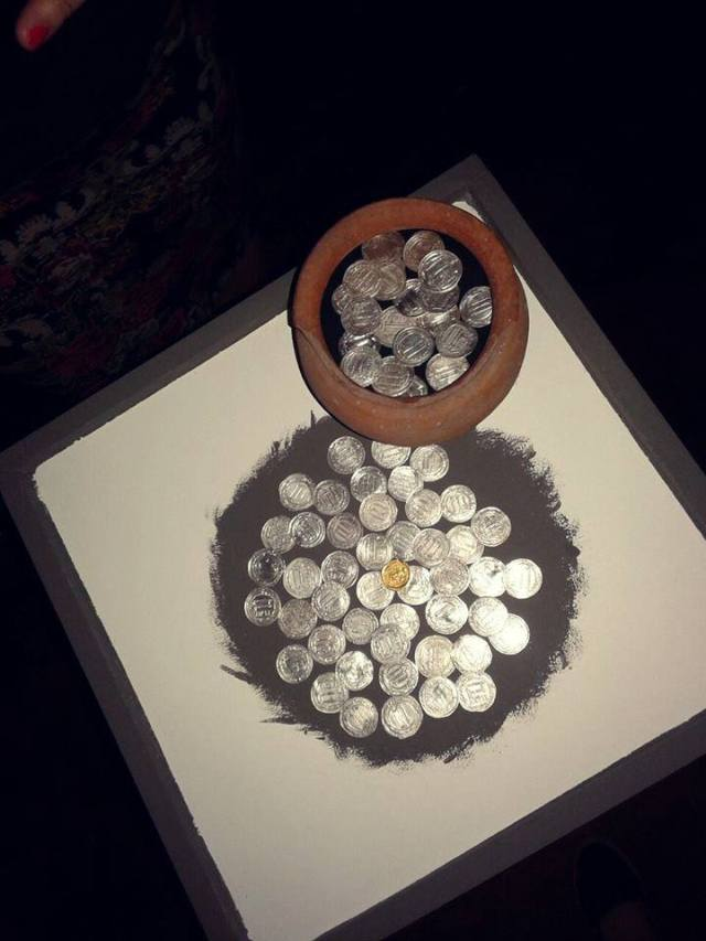 Display of silver coins at the Martvili Regional Museum
