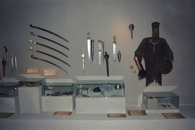 Georgian weapons at the Martvili Regional Museum