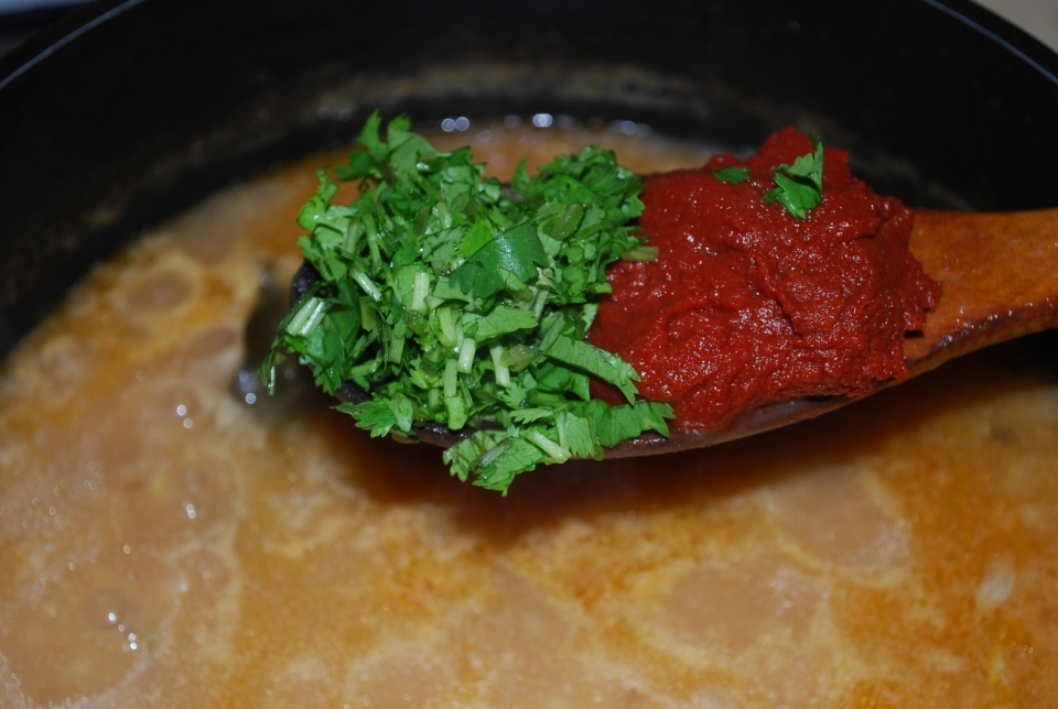 Adding Parsley and Tomato Puree - Copy