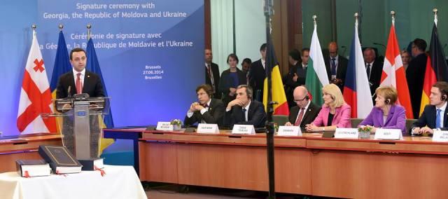 Georgian Prime Minister Irakli Garibashvili at the Association Agreement Signature Ceremony