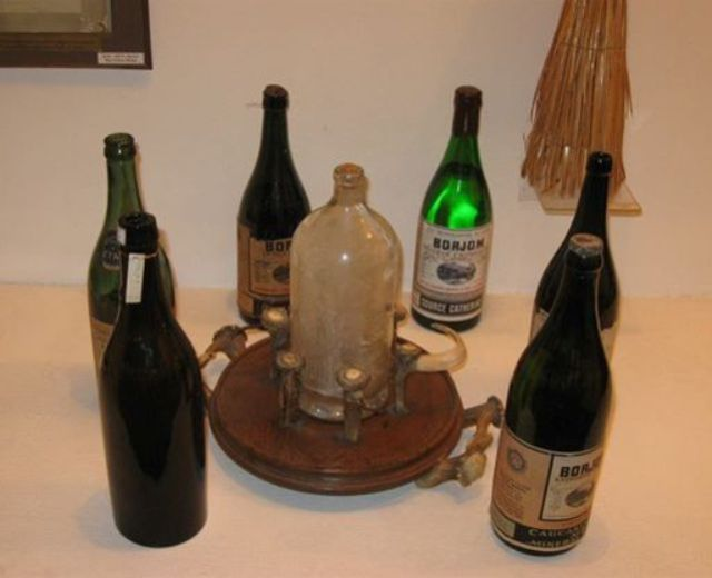 Borjomi water exhibits in the Borjomi Museum of Local History