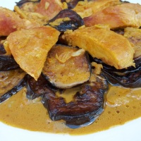 About Food - Chicken with Eggplant and Spices