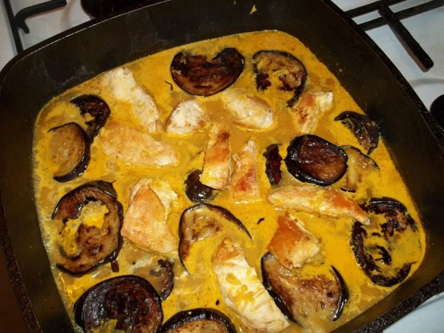 Cooking Eggplant and Chicken - Copy