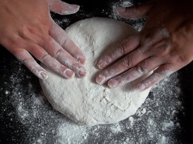 Flattening the dough - Copy