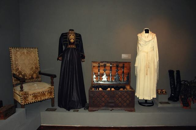 Display of traditional costume at the Martvili Regional Museum