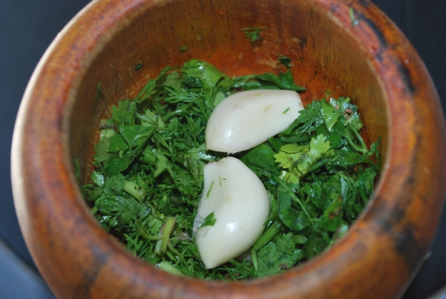 Pounding Herbs and Garlic - Copy