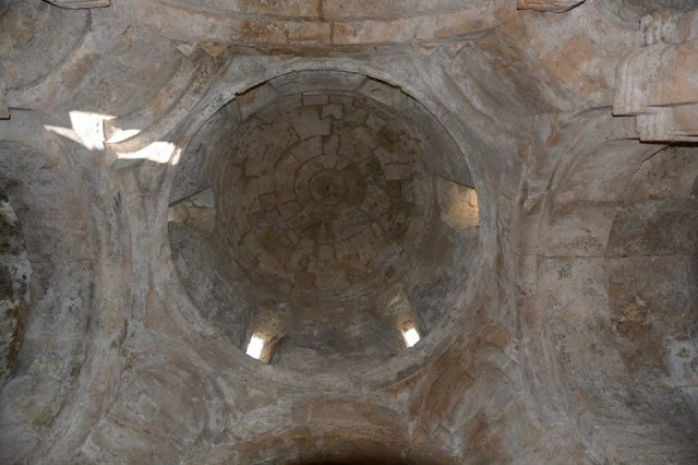 The dome inside the restored Kvetera Church
