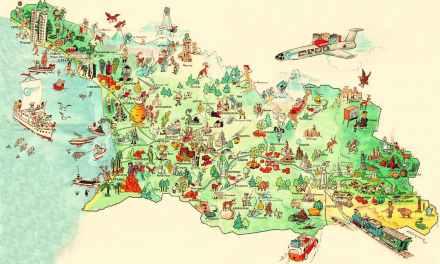 Georgia Tourism Map of Tourist Maps of Georgia