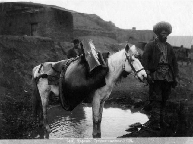 Water collector in 19th century Tiflis