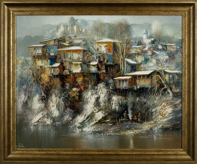 Painting of Old Tbilisi by Vaja Meskhi