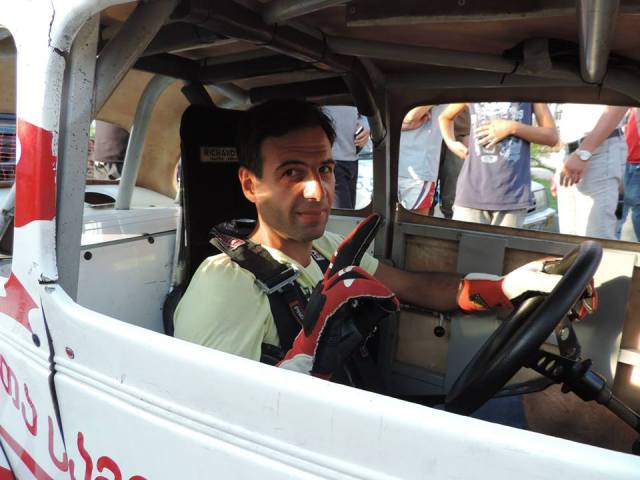 "MIA Force team driver Davit ""Data"" Kajaia"