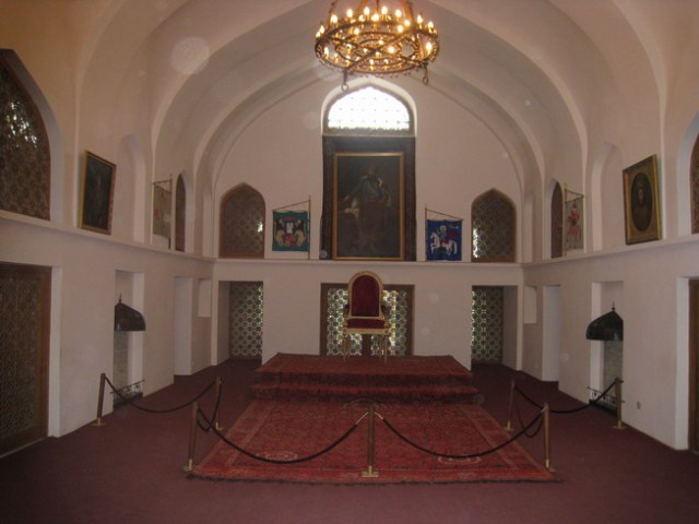 The throne room in the Palace of King Erekle II in Telavi
