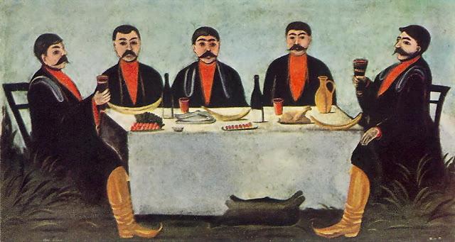 'The Feast of Five Princes' by Georgian artist Niko Pirosmani, 1906.