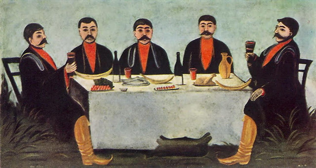 'The Feast of Five Princes' by Georgian artist Niko Pirosmani, 1906.